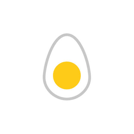 Egg simple icon. Clipart image isolated on white background