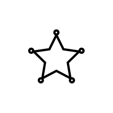 Blank star badge outline icon. Clipart image isolated on white background