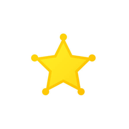 Blank star badge icon. Clipart image isolated on white background