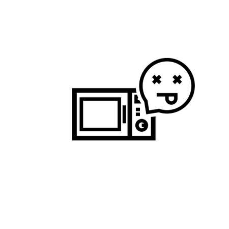 Broken microwave emoji icon. Clipart image isolated on white background