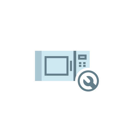 Broken microwave design icon. Clipart image isolated on white background