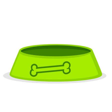 Empty dog bowl icon. Clipart image isolated on white background