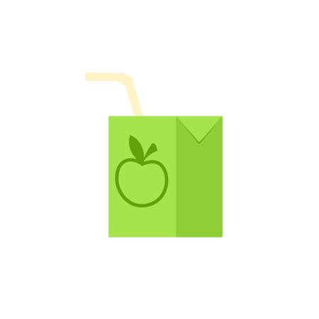 Apple juice carton box icon. Clipart image isolated on white background 向量圖像
