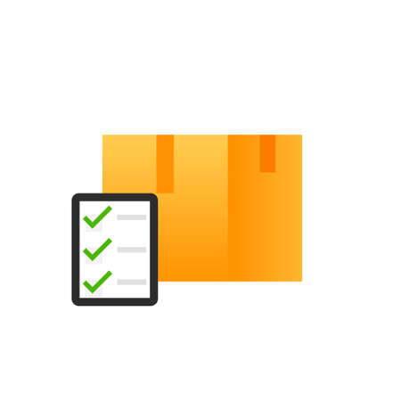 Moving checklist icon. Clipart image isolated on white background
