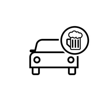 Drunk driving icon. Clipart image isolated on white background 向量圖像