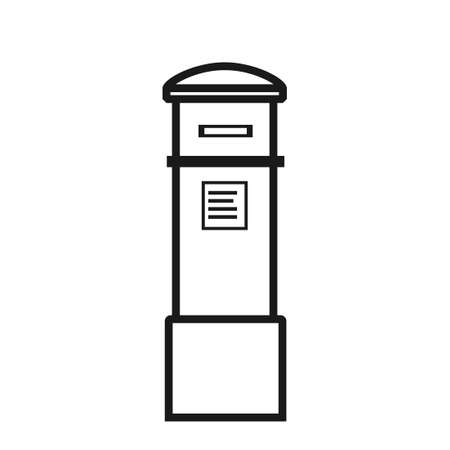 letterbox outline icon. Clipart image isolated on white background