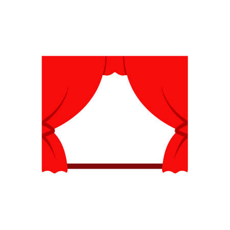 Movie theater curtain icon. Clipart image isolated on white background 向量圖像