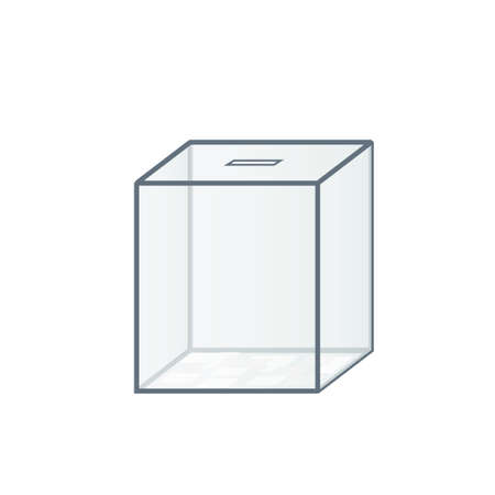 Transparent voting box icon. Clipart image isolated on white background