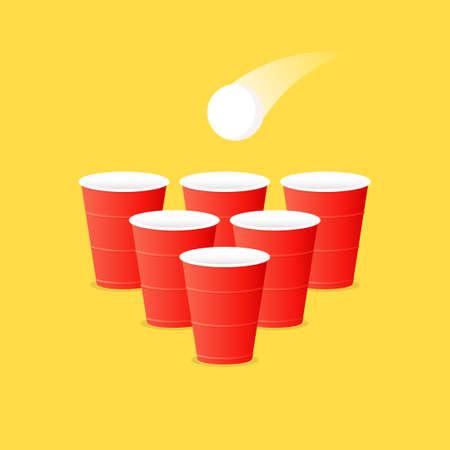 Beer pong set. Clipart image