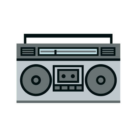 Boombox ghetto blaster icon. Clipart image isolated on white background