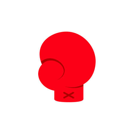 Cartoon red boxing glove icon. Clipart image isolated on white background 矢量图像