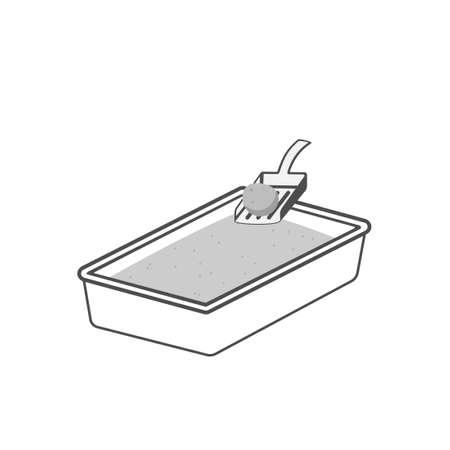 Cat litter box icon. Clipart image isolated on white background Vektorgrafik