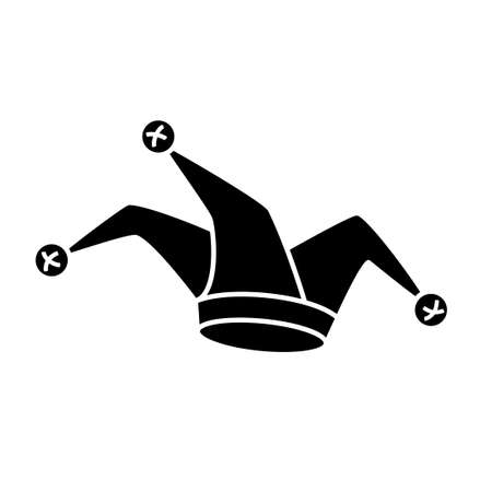 Jester hat silhouette icon. Clipart image isolated on white background 向量圖像