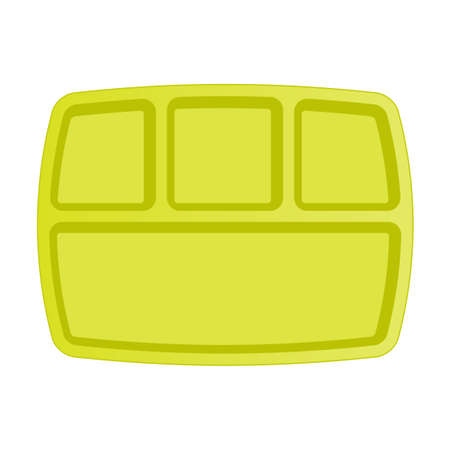Empty school lunchbox top view icon. Clipart image isolated on white background