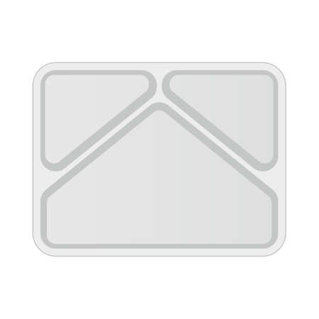 Empty tv dinner tray top view icon. Clipart image isolated on white background 向量圖像