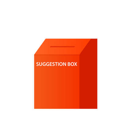 Suggestion box icon. Clipart image isolated on white background