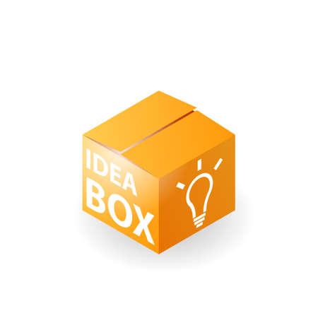 Idea box icon. Clipart image isolated on white background