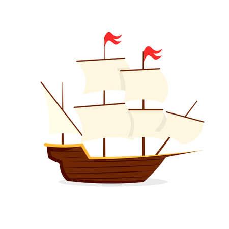 Mayflower ship icon. Clipart image isolated on white background