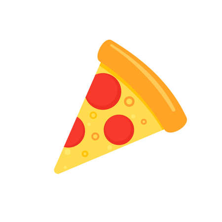 One slice pizza icon. Clipart image isolated on white background