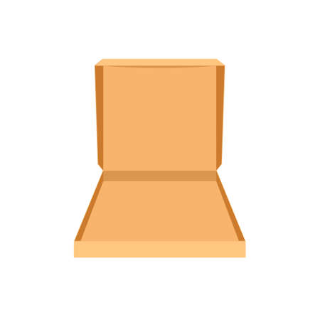 Open empty pizza box icon. Clipart image isolated on white background
