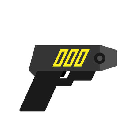 Police taser icon. Clipart image isolated on white background