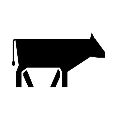 Cow simple glyph icon. Clipart image isolated on white background 向量圖像