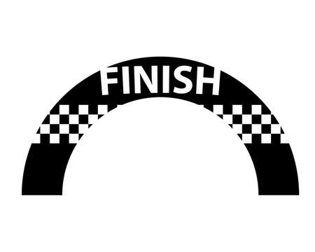 Inflatable finish arch silhouette icon. Clipart image isolated on white background