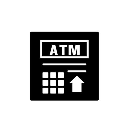 ATM silhouette icon. Clipart image isolated on white background 向量圖像