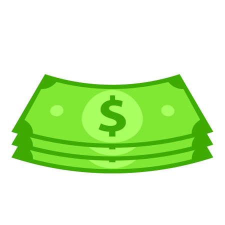 Cash money bundle icon. Clipart image isolated on white background