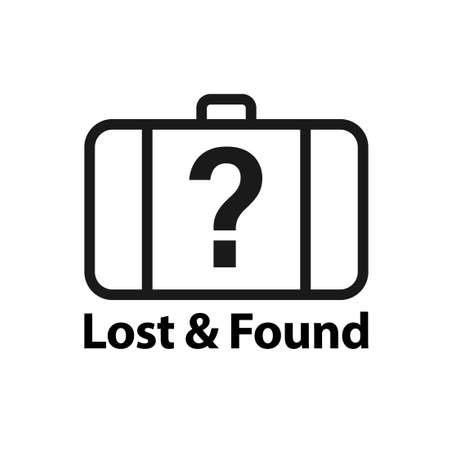 Lost and found icon. Clipart image isolated on white background