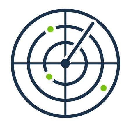 Radar screen icon. Clipart image isolated on white background 版權商用圖片 - 159906040