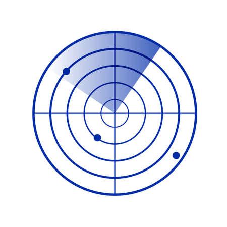 Radar screen icon. Clipart image isolated on white background 版權商用圖片 - 159906043