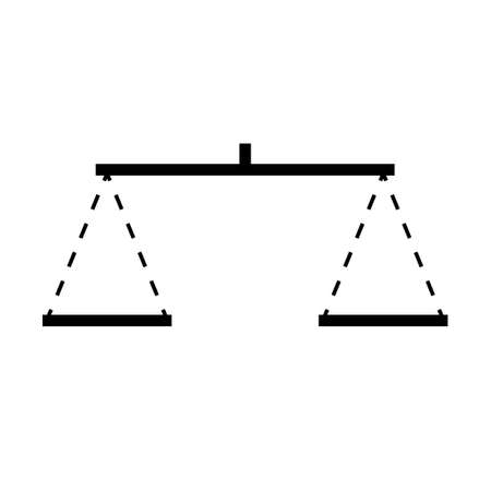 Balance scale icon. Clipart image isolated on white background 向量圖像