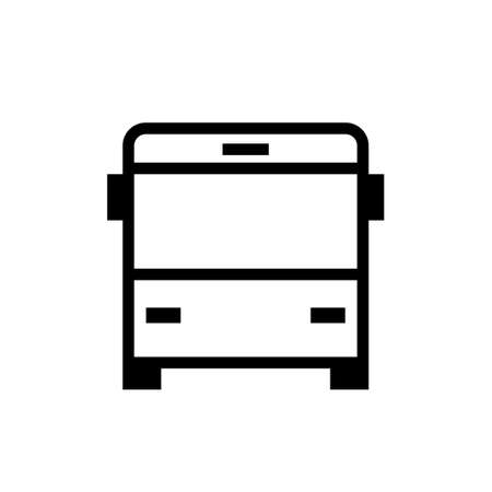 City bus front view icon. Clipart image isolated on white background