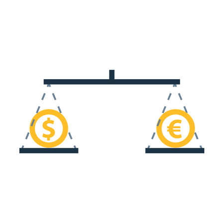 Money compare concept icon. Clipart image isolated on white background 向量圖像