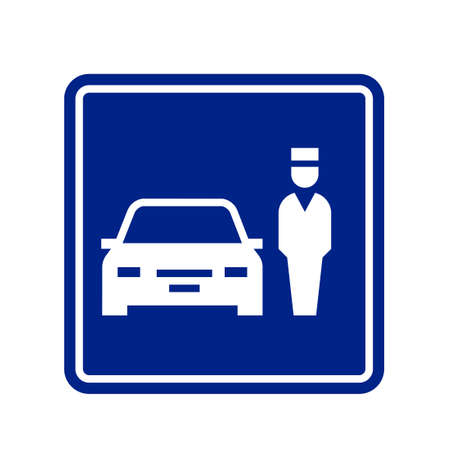 Parking valet sign icon. Clipart image isolated on white background Vettoriali