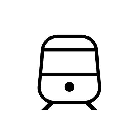 Railway outline icon. Clipart image isolated on white background Vettoriali