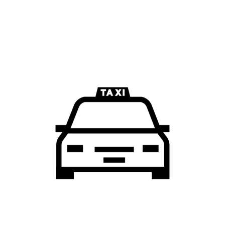 Taxi outline icon. Clipart image isolated on white background