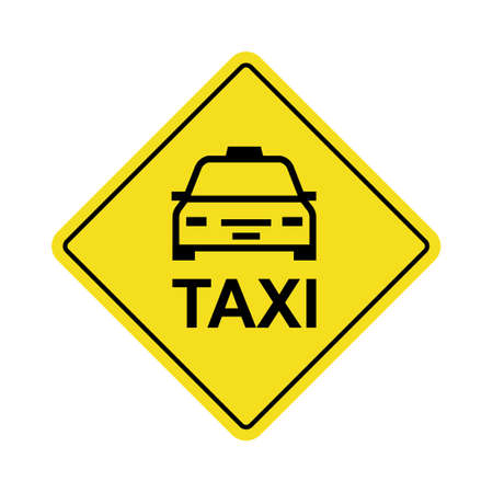 Taxi icon. Clipart image isolated on white background