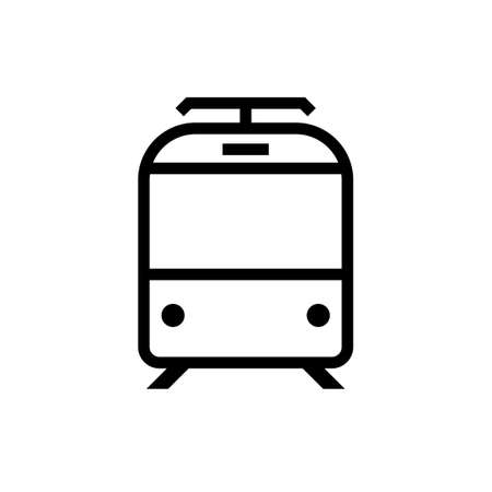 Tram front view icon. Clipart image isolated on white background 向量圖像