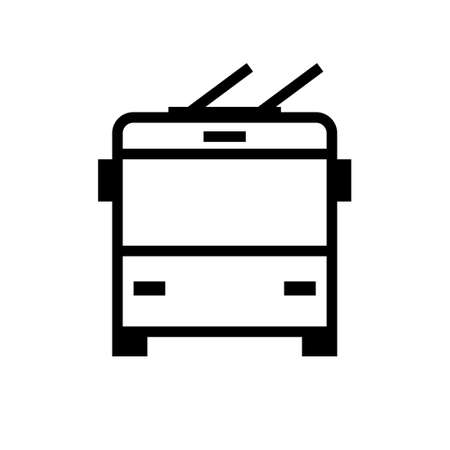 Trolleybus front view icon. Clipart image isolated on white background