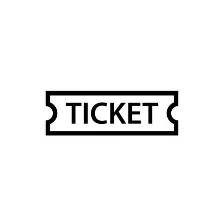 Ticket outline icon. Clipart image isolated on white background