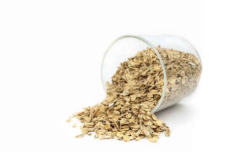 oat groats on white background Standard-Bild