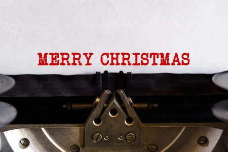 Vintage typewriter with printed text - MERRY CHRISTMAS