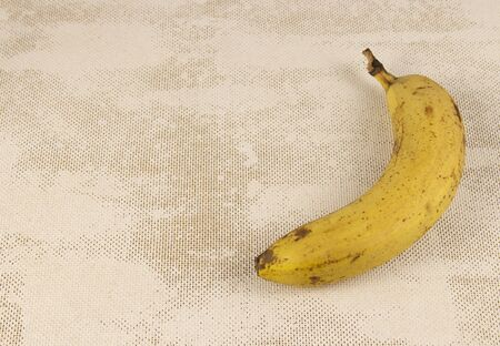 Yellow banana on a white background.copyspace for text.