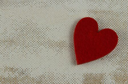 red heart isolated. On a white background.copyspace for text