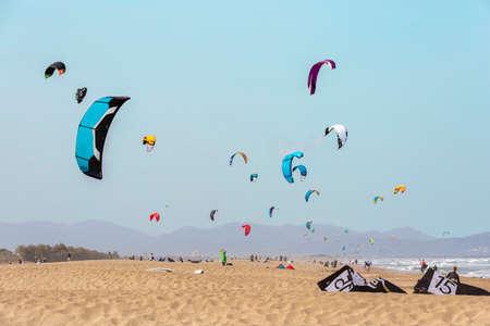 spring Kite surf festival at Sant Pere Pescador beach, Girona
