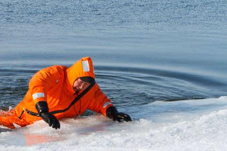 siberia: Marine rescue operation of the Baikal, Siberia