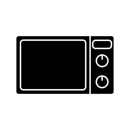 microondas: Microondas horno icono aislado sobre fondo blanco. diseño del vector