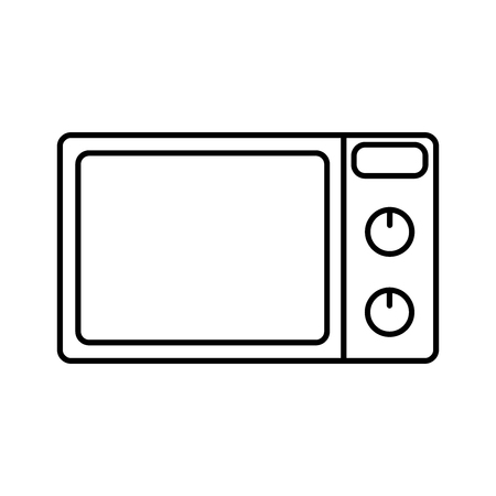 microondas: Microwave oven icon isolated on white background. Vector design